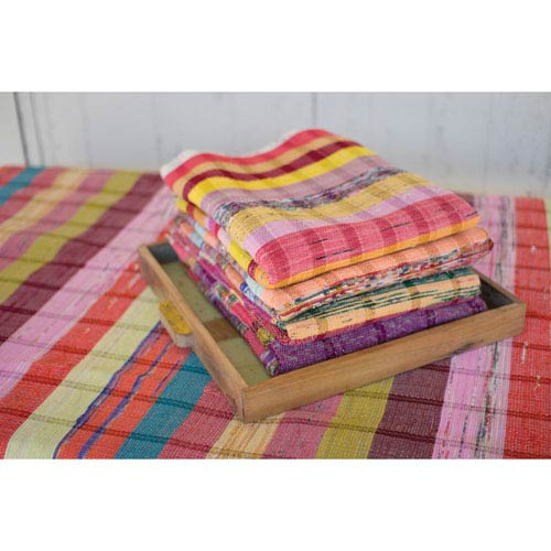 Recycled Cotton Throws, Set of Six