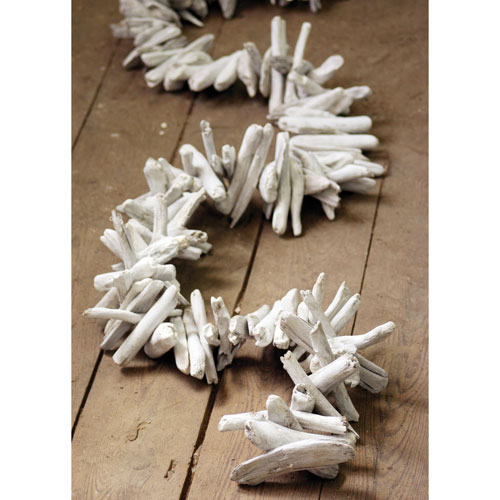 White Washed Driftwood Garland