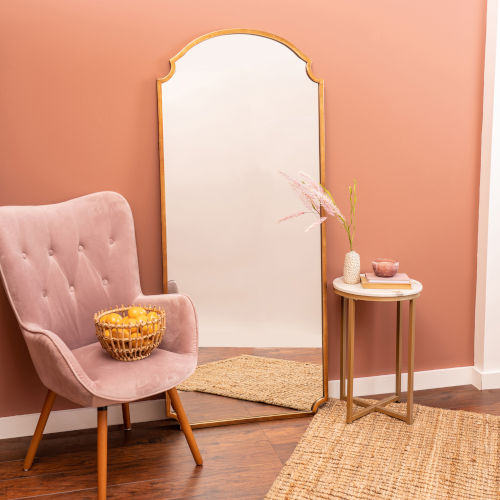 Saxton Gold 70-Inch Floor Mirror