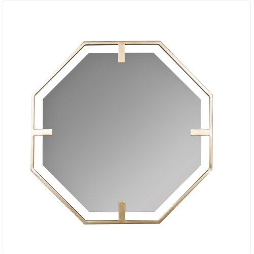 Kelani Gold 32-Inch Hexagon Wall Mirror