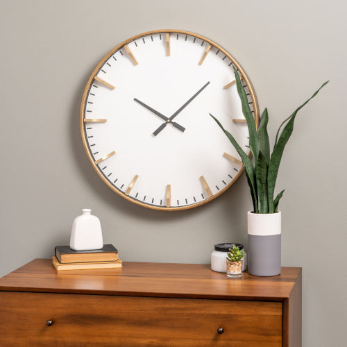 Isabella Gold 24-Inch Wall Clock