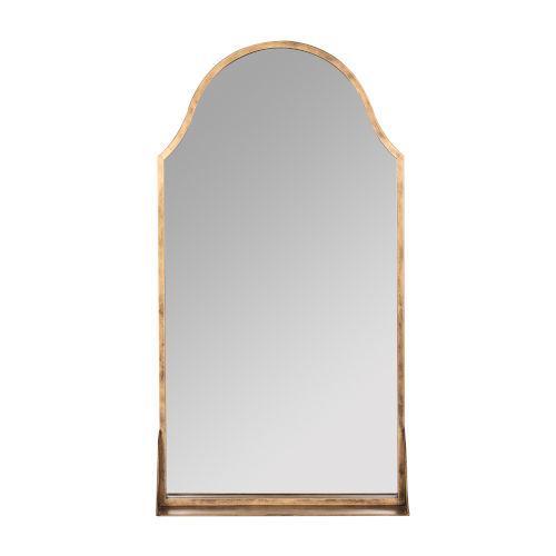 Sawyer Antique Bronze 38-Inch Shelf Wall Mirror