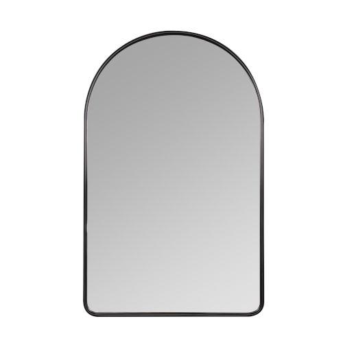 Sebastian Black 38-Inch Arched Wall Mirror