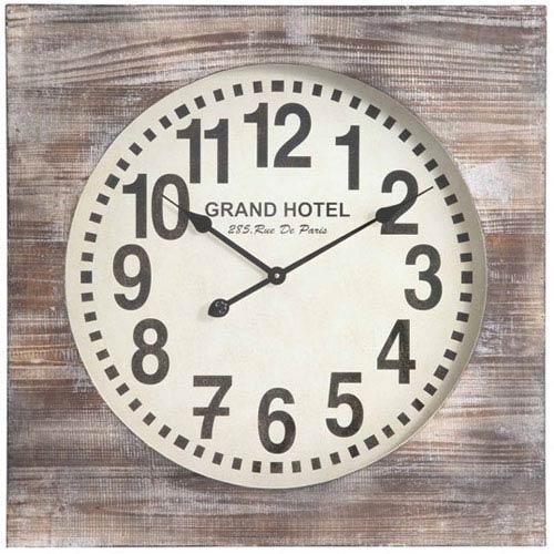 Cooper Classics Distressed White Wash Augusta Clock