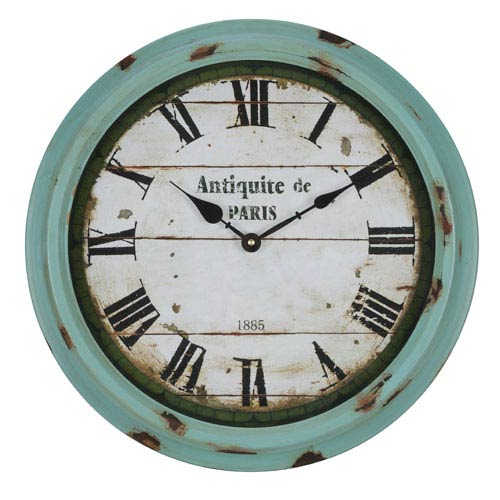Anthea Aged Sea Green Clock
