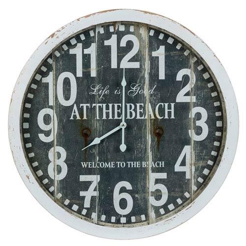 Greenwich Aged Cream and Warm Blue Clock