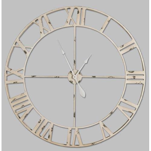 Cooper Classics Annency Aged Cream and Gray Clock