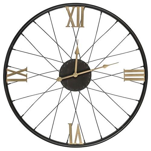 Cooper Classics Dedon Black and Gold Clock