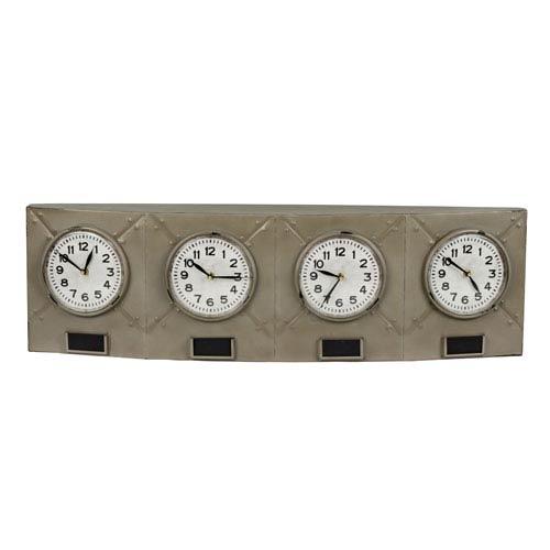 Terminal Gray and Black Clock
