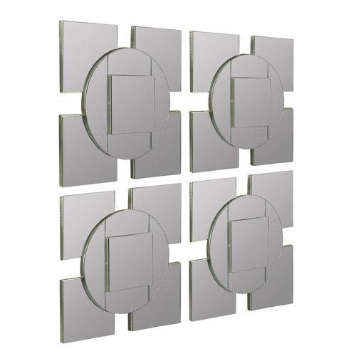 Cooper Classics Tupan Layered Frameless Mirror, Set of Four