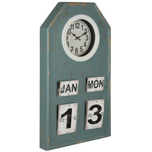 Venda Distressed Blue Gray Clock