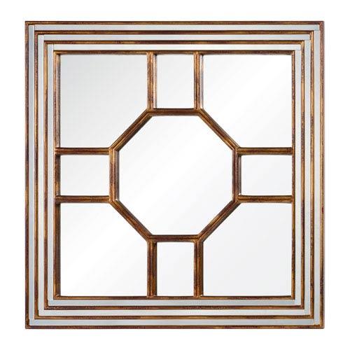 Cooper Classics Arabella Antique Gold Mirror with Burgundy Undertones