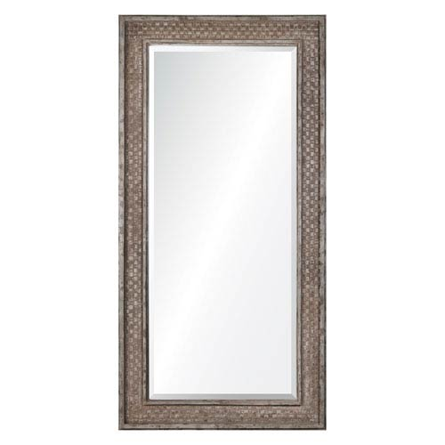 Cormac Rusted Brown Leaner Mirror with Silver Highlights