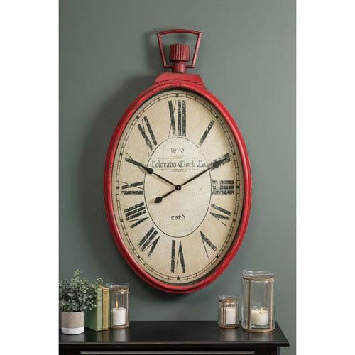 Tildyn Red Wall Clock