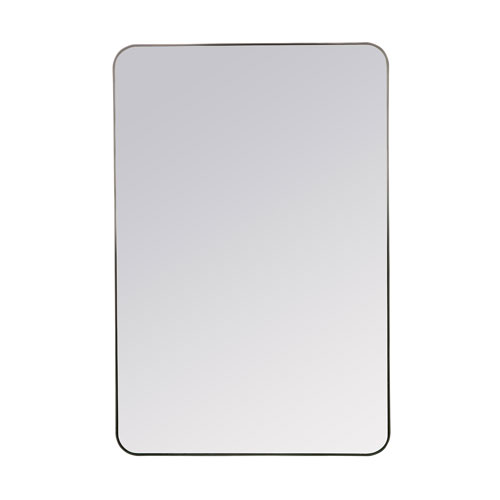 Franco Black Rectangular Mirror