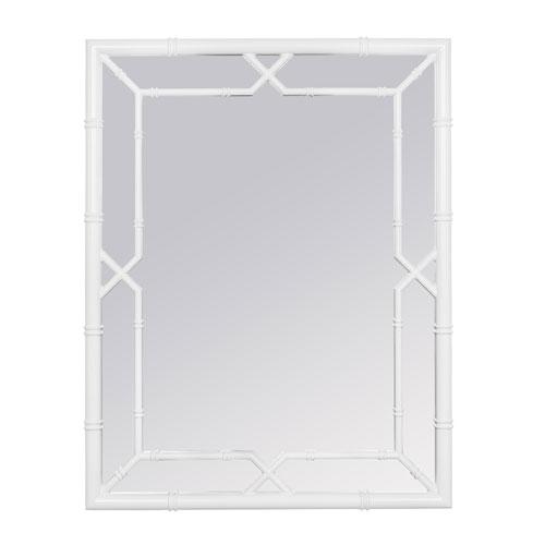 Cameron Bamboo White Mirror