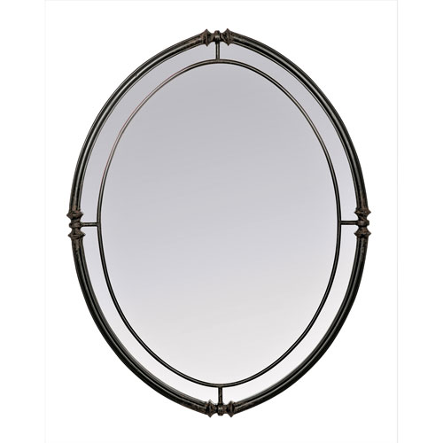 Cullen Black Oval Mirror