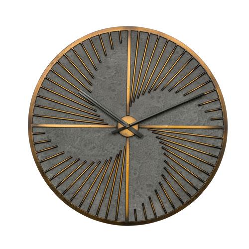 Robertson Gold Round Clock