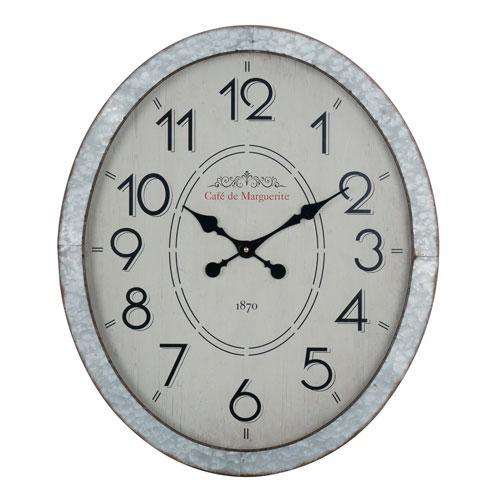 Hudson Galvanized Metal Wall Clock