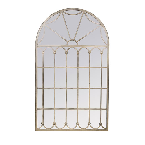 Adelaide White Arched Mirror