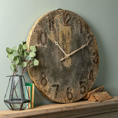 Bartolo Rustic Gray Wall Clock