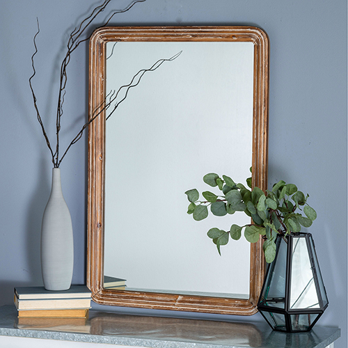 Cooper Classics Clara Rustic Natural Brown Mirror