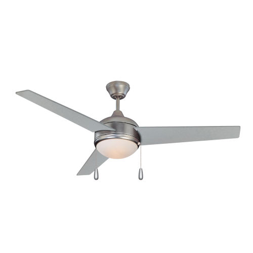 Skylark Satin Nickel and Chrome 52-Inch LED Ceiling Fan