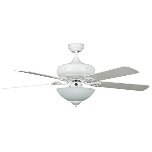 Valore White 52-Inch Three-Light LED Ceiling Fan