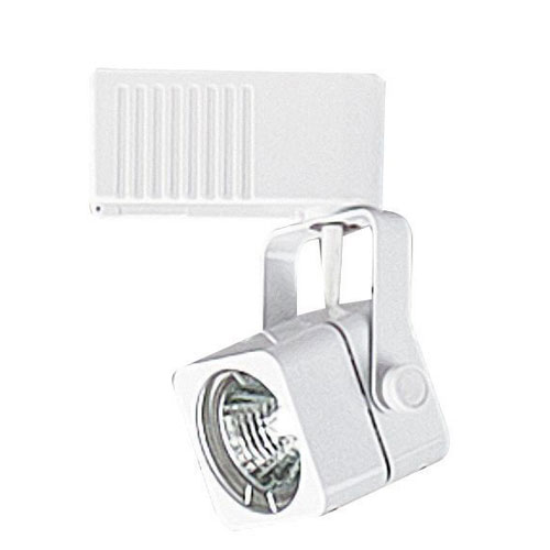 Sunset Lighting 12-Volt One-Light White Track Light with Square Mini Head
