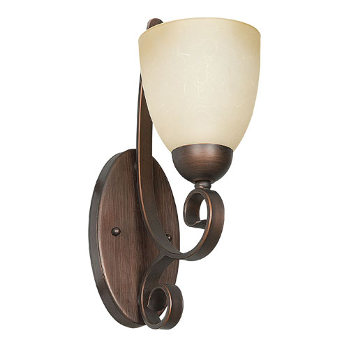 Provano One-Light Tique Bronze Sconce with Buttercup Glass