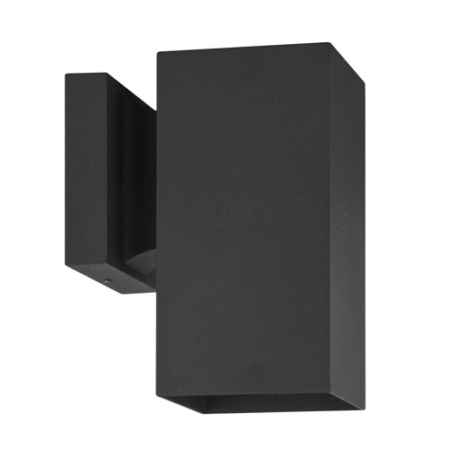 Architectural Outdoor One-Light Black Aluminum Outdoor Wall Sconce