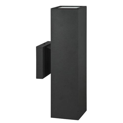 Architectural Outdoor Two-Light Black Aluminum Outdoor Wall Sconce