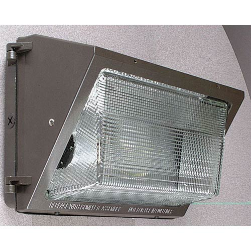 One-Light Bronze HPS Fluorescent Outdoor Medium Wall Pack with Die-Cast Aluminum Housing