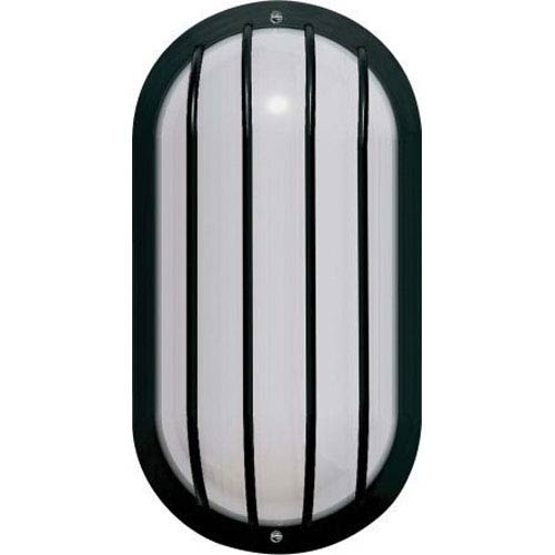 Sunset Lighting One-Light Black Outdoor Fluorescent Wall Fixture with White Acrylic Lens