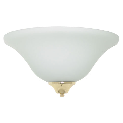 Energy Star Large One-Light Fluorescent Wall Sconce with Satin Opal Glass