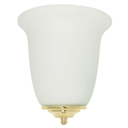 Energy Star One-Light Wall Sconce with Satin Opal Glass