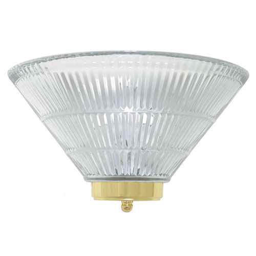 One-Light Wall Sconce with Clear Prismatic Glass