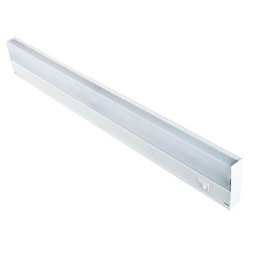 Sunset Lighting 24-Inch Two-Light White Fluorescent Undercabinet Fixture with White ABS Diffuser