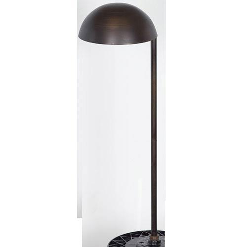 Sunset Lighting 12-Volt Matte Bronze Cast Brass Half Dome Pathway Light
