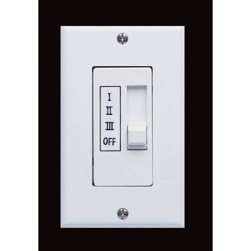White Three-Speed Slide Bar Multi-Fan Wall Control