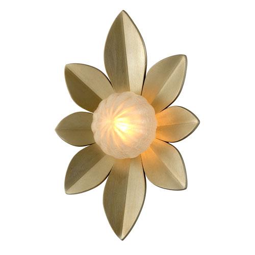 Gigi Silver Leaf Accents 15-Inch LED Wall Sconce