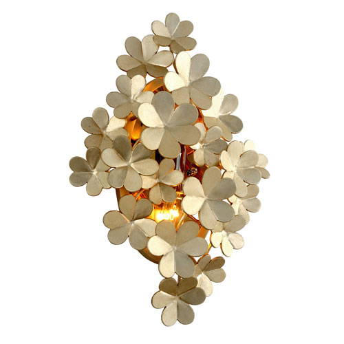 Gigi Silver Leaf Accents Two-Light Wall Sconce