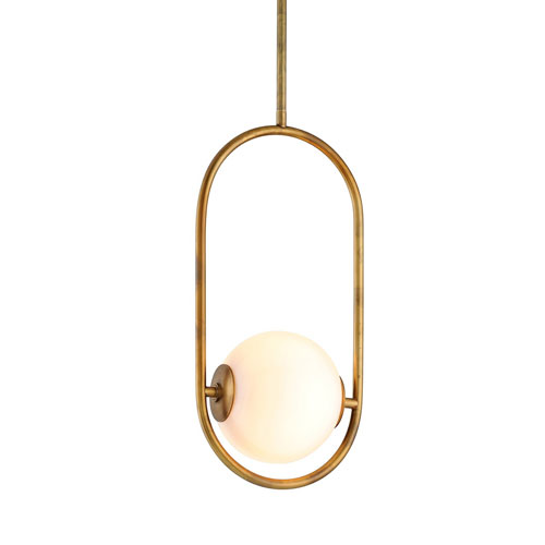 Everley Vintage Brass Six-Inch One-Light Mini-Pendant