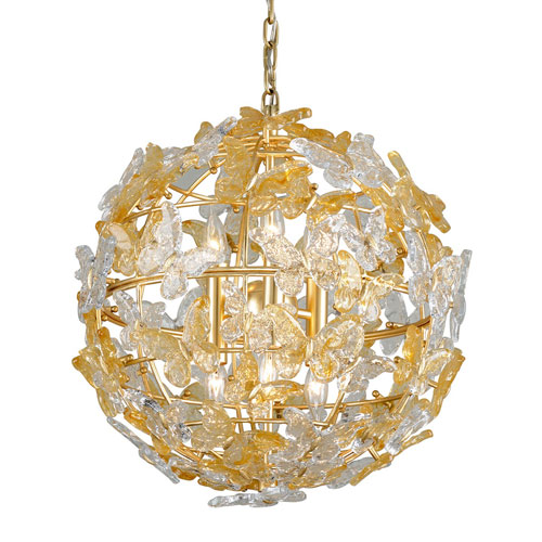 Milan Gold Leaf Six-Light Pendant