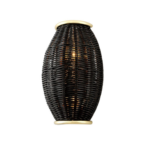 Caba Caba Polished Brass Eight-Inch Two-Light ADA Wall Sconce