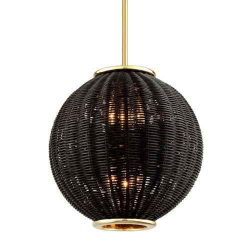 Caba Caba Polished Brass 16-Inch Six-Light Pendant