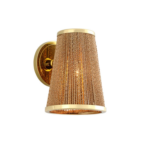 Rhodos Polished Brass Eight-Inch One-Light ADA Wall Sconce