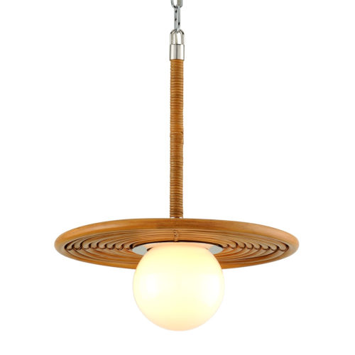 Hula Hoop Polished Brass 16-Inch One-Light Pendant