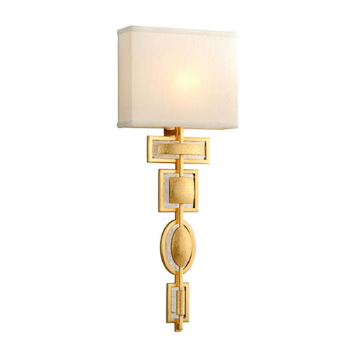 Script Gold Leaf One-Light Wall Sconce