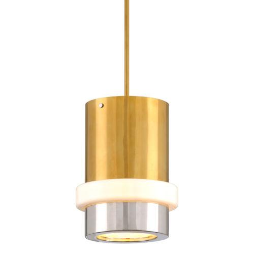 Beckenham Vintage Polished Brass and Black 11-Inch One-Light Pendant